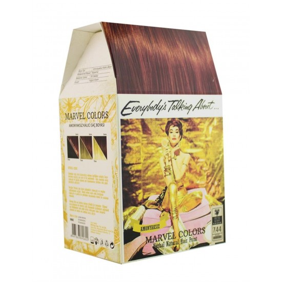 Marvel is a hair dye of the natural herbs No. 7.44 heavy copper mid-moon
