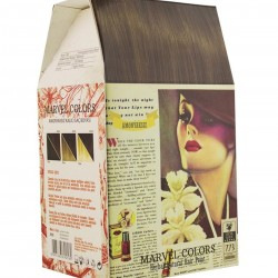 Marvel is a hair dye of the natural herbs No. 7.73 medium-color tobacco-color telluis