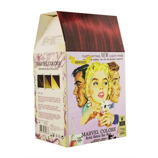 Marvel is a hair dye of the natural herbs No. Medium heavy red 7.66