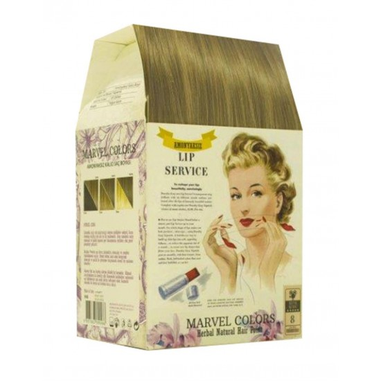 Marvel is a hair dye of the natural herbs No. 8 light brown