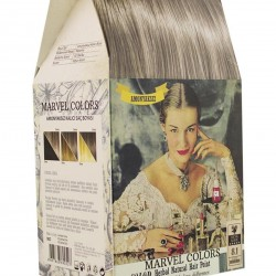 Marvel is a hair dye of the natural herbs No. 8.1 Light Gray Brown