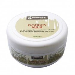 Seleccion Moisturizing cream for face and body with Donkey's Milk Natural 300 ml