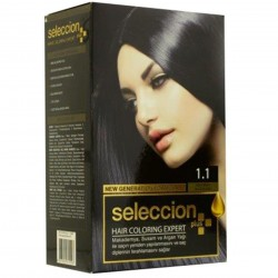 Hair dye from Seleccion In blue black number 1.1
