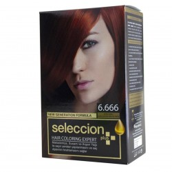 Hair dye from Seleccion Fiery Red No. 6.666