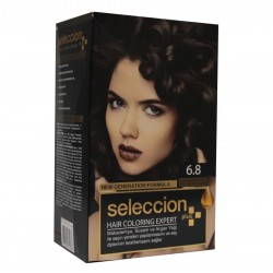 Hair dye from Seleccion Color hot chocolate coffee No. 6.8