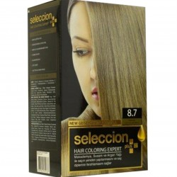 Hair dye from Seleccion Caramel color No 8.7